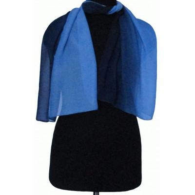 Шарфик Майя светло-темно-синий