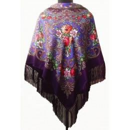 Платок Полина фиолетовый