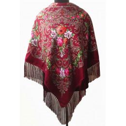Платок Полина бордовый (товар по сниженной цене)