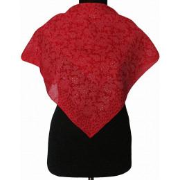 Платок Пелагея красный