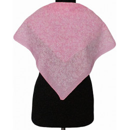 Платок Пелагея розовый