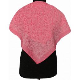 Платок Пелагея ярко-розовый