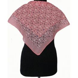 Платок с люрексом Рая розовый