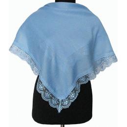 Платок Светлана голубой с люрексом