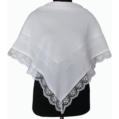 Платок Светлана белый с люрексом