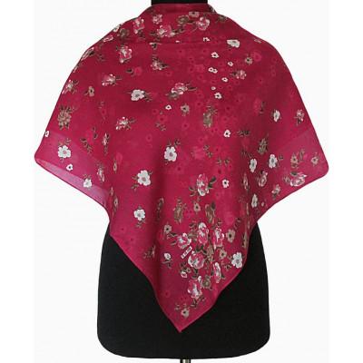 Батистовый платочек Анжела бордовый