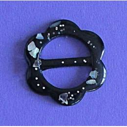 Пуговица для платка Цветок черный