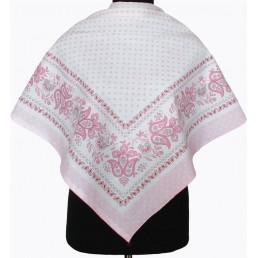 Платок Беляна с розовым