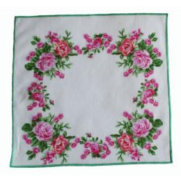 Носовой платок Нюша с зеленым