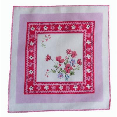 Носовой платок Оля с розовым